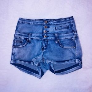 Almost famous high waist stretch shorts 7